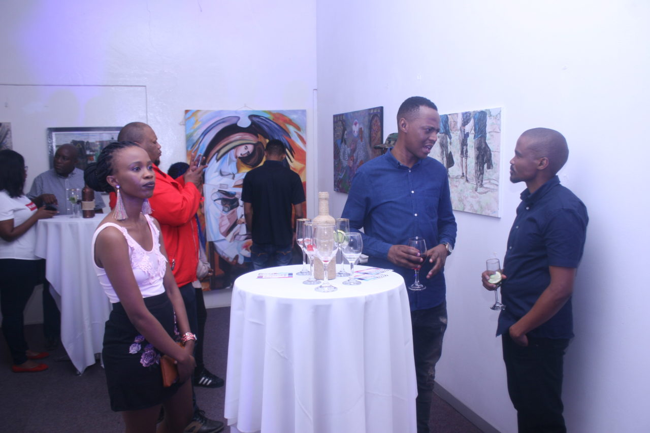 Opening night of Mahikeng's first art gallery. Photo supplied