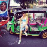 Akio in a taxi in Bangkok. Facebook