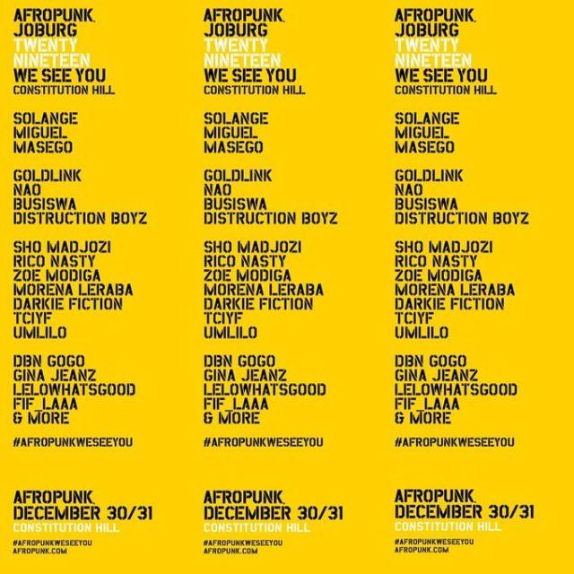 AfroPunk2019 lineup