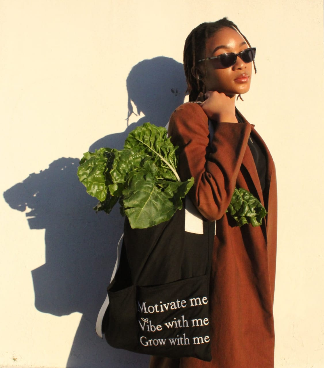 The bag in use. Photo by Lebogang Motsagi