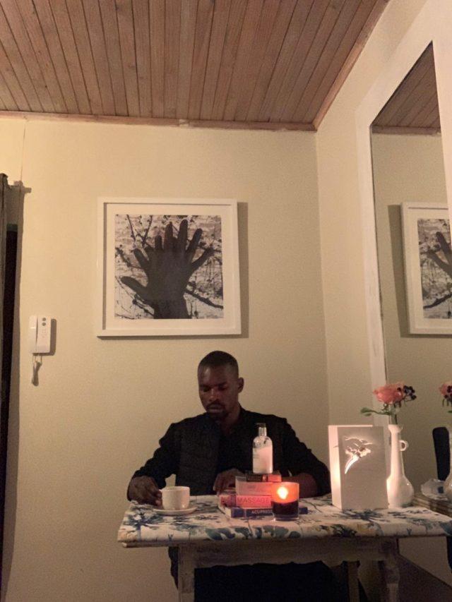 Zain Nyabvure inside his Hands of Zain. Photo supplied