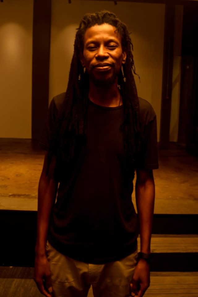Artist Sibusile Xaba at The Forge in Joburg. Photo by Sip The Snapper