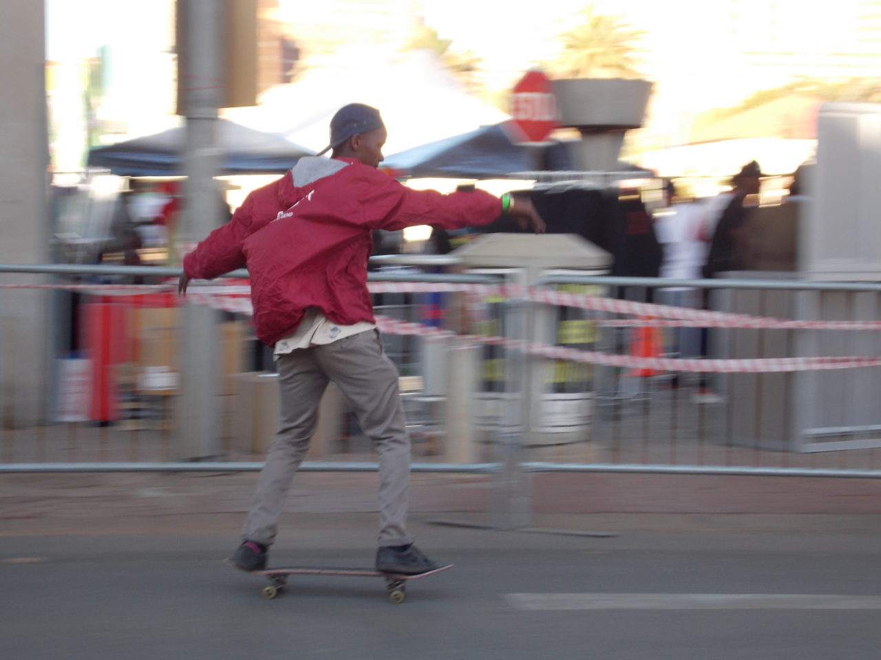 A skater at Back To The City. Photo by Bonginkosi Ntiwane