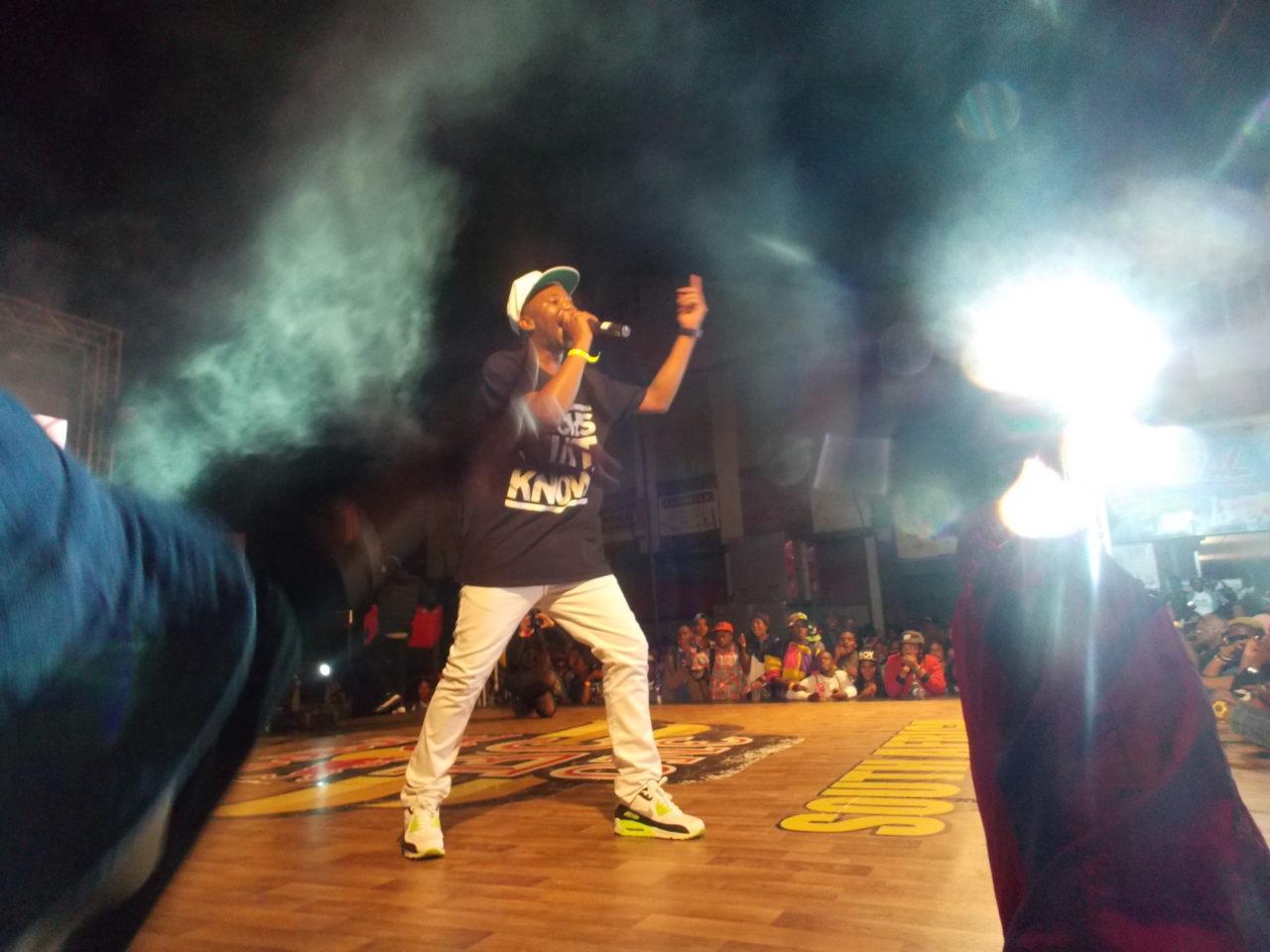 Okamalumekoolkat performing on the Redbull stage at Back To The City. Photo by Bonginkosi Ntiwane