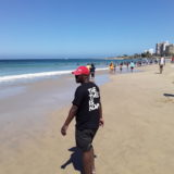 Thulani Ntiwane on the beach.