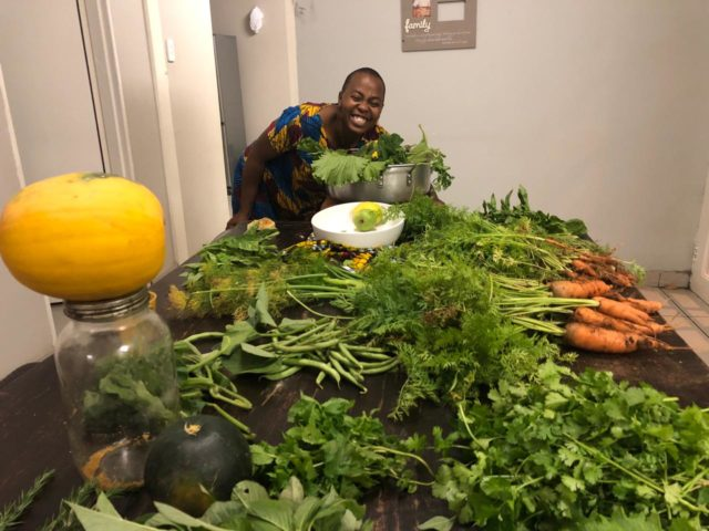 Mama in tha kitchen with her greens. Photo supplied