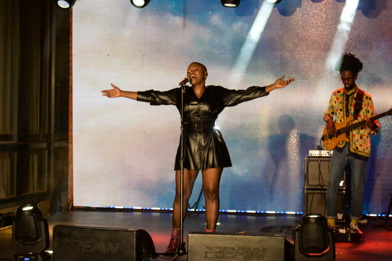 Zoe Modiga performing at Constitution Hill. Photo by Sip The Snapper